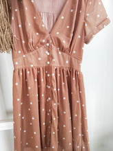 Load image into Gallery viewer, Sophia Dress - Latte/Polka Dot