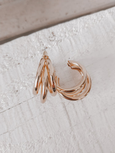 Laurell Hoop Earrings - Gold