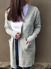 Load image into Gallery viewer, Abilene Wool Blend Cardigan - Light Sage