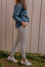 Load image into Gallery viewer, Hali Joggers - White/Black Stripe