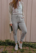 Load image into Gallery viewer, Hali Joggers - Grey/White Stripe