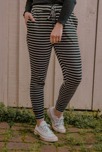 Load image into Gallery viewer, Hali Joggers - Black/White Stripe