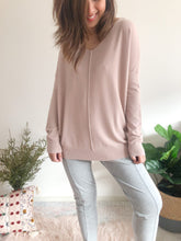 Load image into Gallery viewer, Indra V Neck Knit - Dust Pink