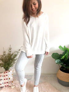 Indra V Neck Knit - White