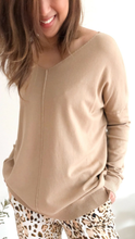 Load image into Gallery viewer, Indra V Neck Knit - Latte