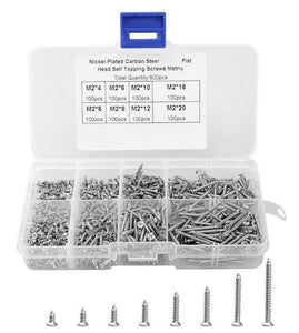 800 Pcs Stainless Steel Self Tapping Screw Kit