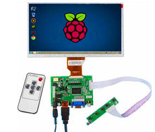 Load image into Gallery viewer, 9 inch 800*480 LCD screen Monitor Driver Board HDMI VGA 2AV for Raspberry Pi 3