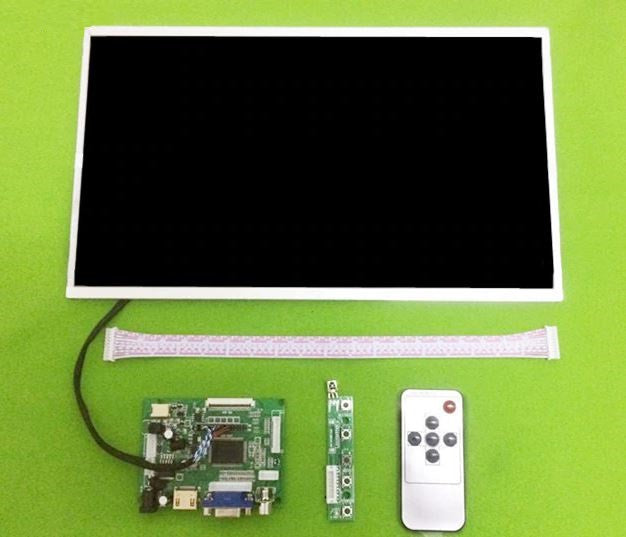 14 inch 1366*768 High large size LCD Display screen Monitor Control Driver Board HDMI VGA 2AV For Raspberry  Pi