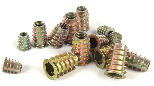 50 Pcs M4 M5 M6 M8 Zinc Alloy Thread For Wood Insert Nut