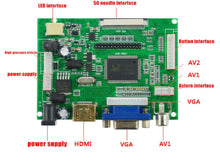 Load image into Gallery viewer, 7 inch HD 1024*600 IPS TFT LCD Monitor Driver Board HDMI VGA 2AV for Raspberry Pi lcds display panel