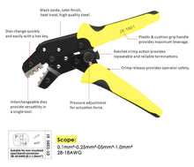 Load image into Gallery viewer, Professional Wire Crimper , Terminal Crimping Pliers JX-1601-10