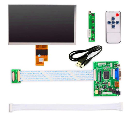 7 inch HD 1024*600 IPS TFT LCD Monitor Driver Board HDMI VGA 2AV for Raspberry Pi lcds display panel