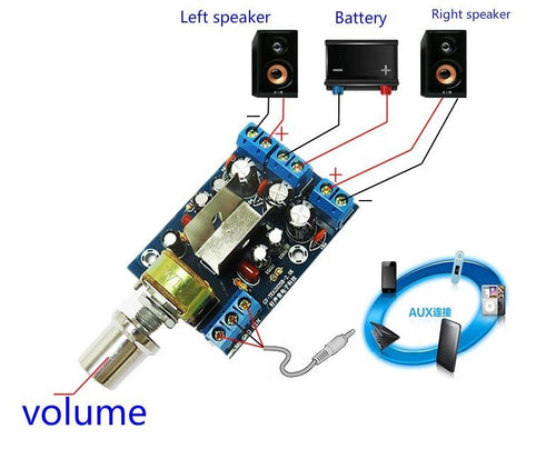 Mini Audio Amplifier Board 3W+3W  2.0 Stereo