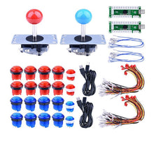 Load image into Gallery viewer, 2 Player LED Arcade DIY Parts 2 x Zero Delay USB Encoder + 2 x 8 Way Joystick , 20 x LED Push Buttons