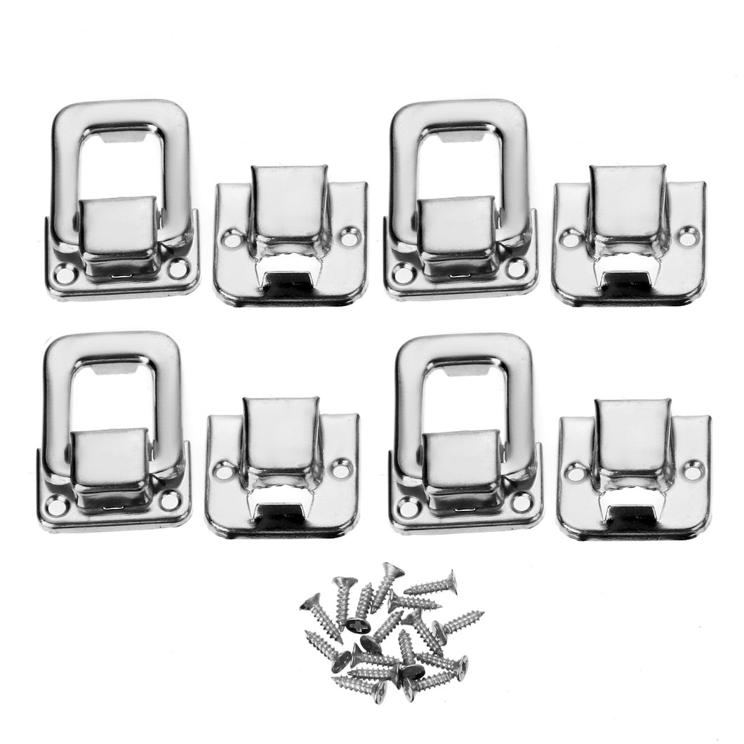 4 pcs Silver Fastener Toggle Lock Latch