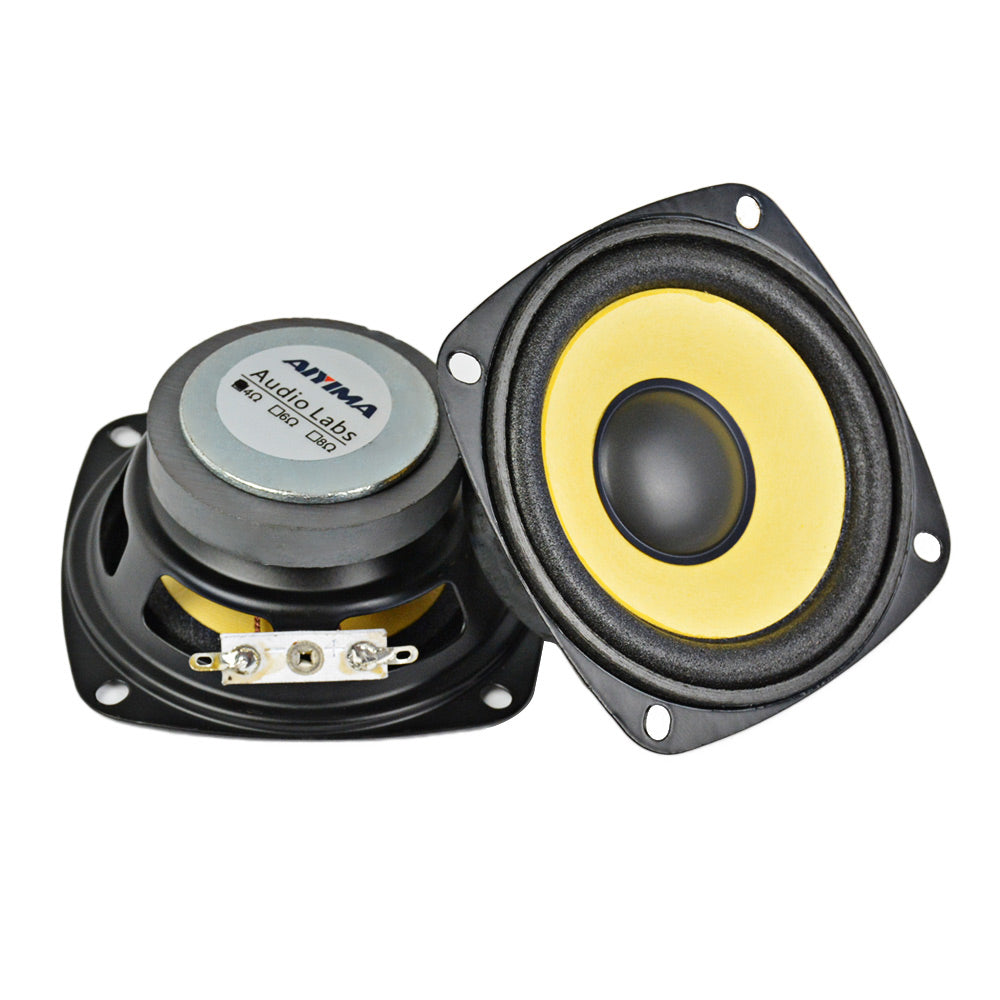 2pcs 3Inch Full Range Speaker 4Ohm 10W