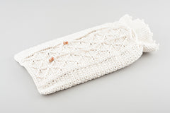 hot water bottle cover - aran knit