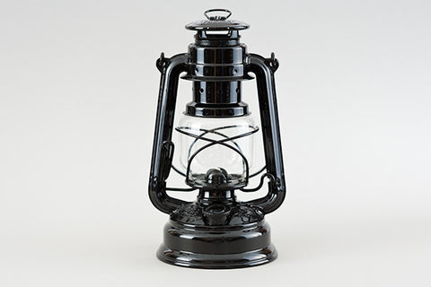 hurricane lantern - black