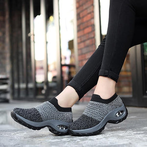 2019 Spring Women Sneakers Shoes Flat Slip on Platform