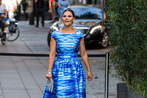 INDEPENDENT.IE: Style Style Talk. Sweden's Crown Princess Victoria takes theme attire to stylish new heights in water-inspired dress