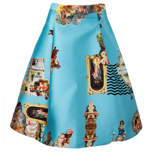 Sicily Light Blue, Short Skirt