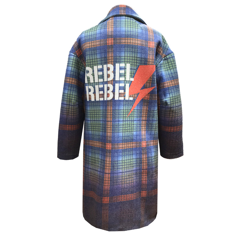 Amazing Recycled Wool Coat HERO in Rebel Rebel Print