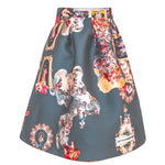 Sicily Dark Steel Grey, Short Skirt