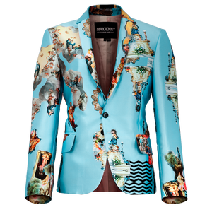 Sicily Light Blue, Women's Suit Blazer