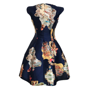 Sicily Dark Marine Blue, C Dress