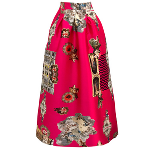 Sicily Hot Pink, Long Skirt