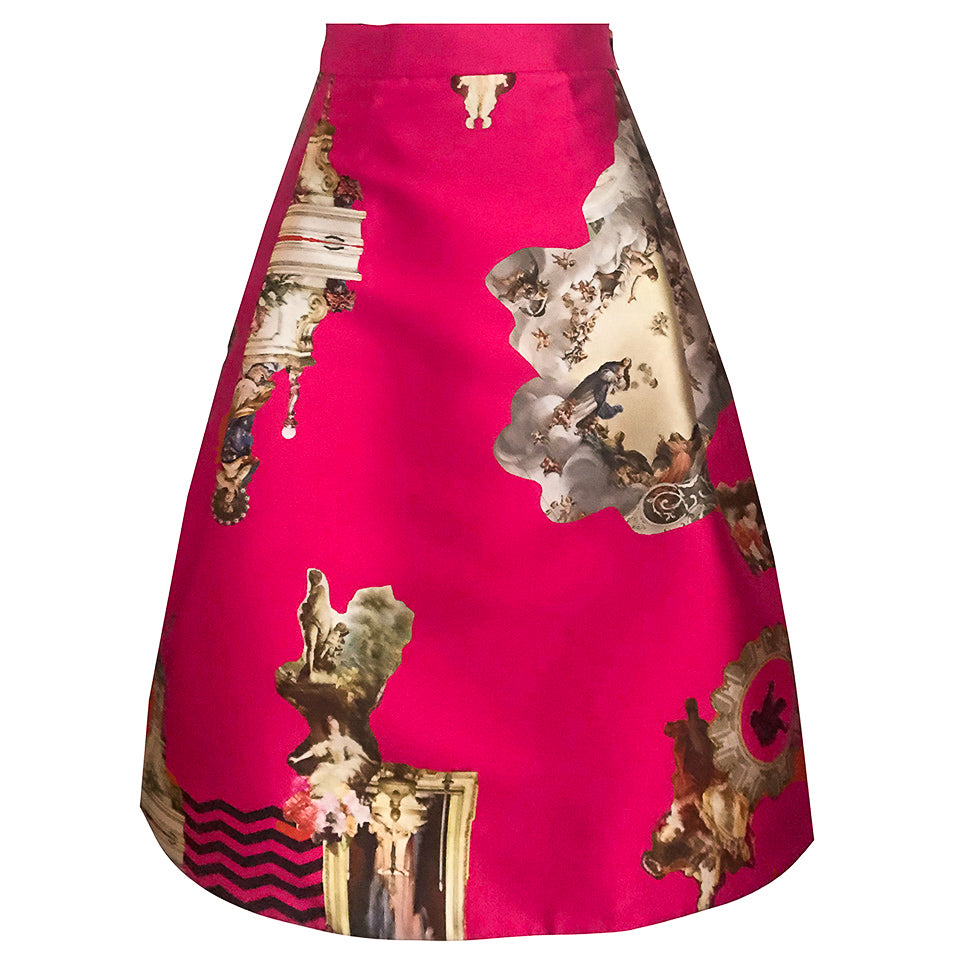 Sicily Hot Pink, Short Skirt