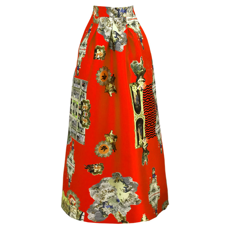 Sicily Red, Long Skirt
