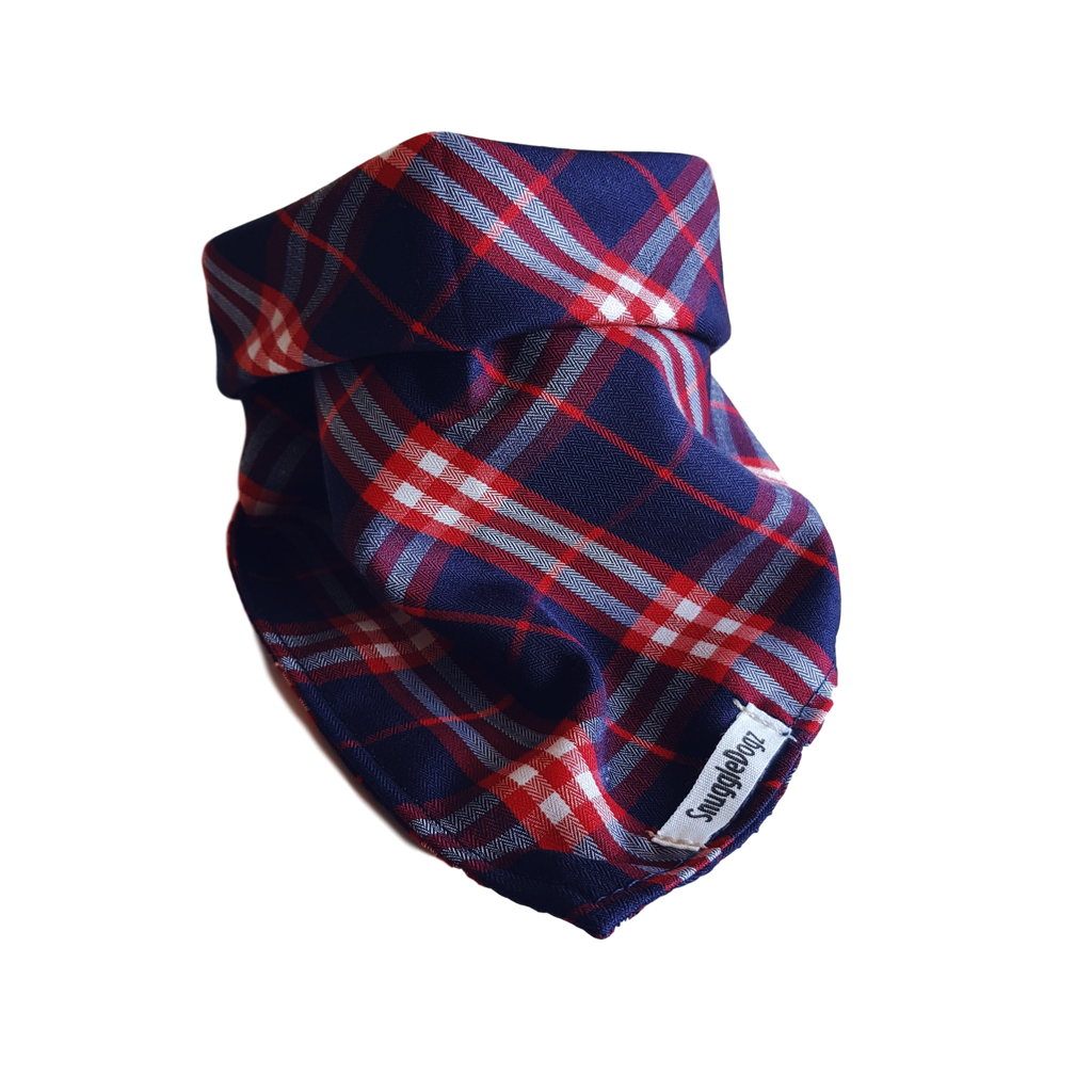Dog Bandana Blue Check | Bold - SnuggleDogz