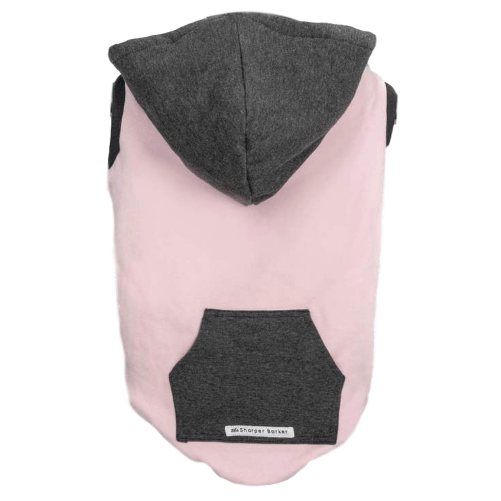 Bamboo Dog Hoodie | Pink/Grey | The Sharper Barker - SnuggleDogz