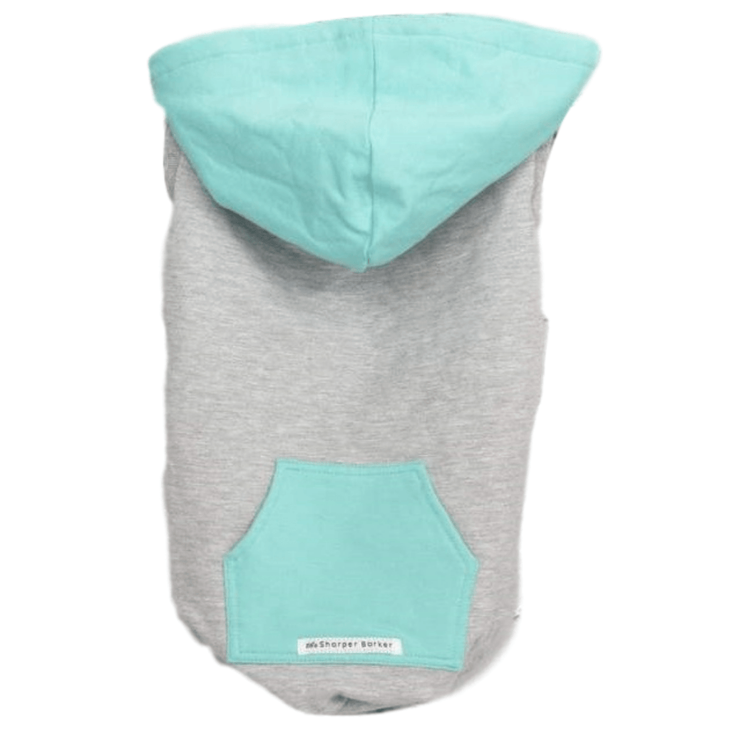 Bamboo Dog Hoodie | Turquoise/Grey | The Sharper Barker - SnuggleDogz