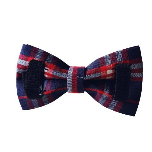 Dog Bow Tie Blue Check | Bold - SnuggleDogz