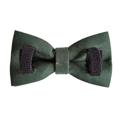 Dog Bow Tie Velvet Green | Timeless - SnuggleDogz