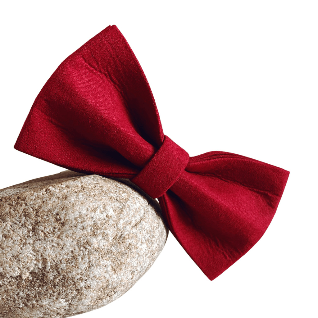 Dog Bow Tie Velvet Red | Timeless - SnuggleDogz