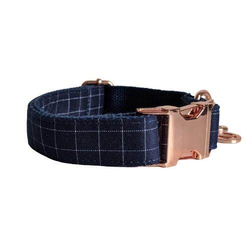 Dog Collar Blue | Dapper XS / Rose Gold - SnuggleDogz