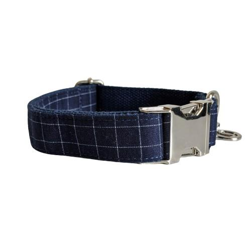 Dog Collar Blue | Dapper XS / Silver - SnuggleDogz