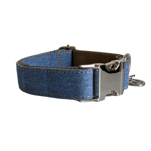 Dog Collar Dark Denim | Timeless XS / Silver - SnuggleDogz