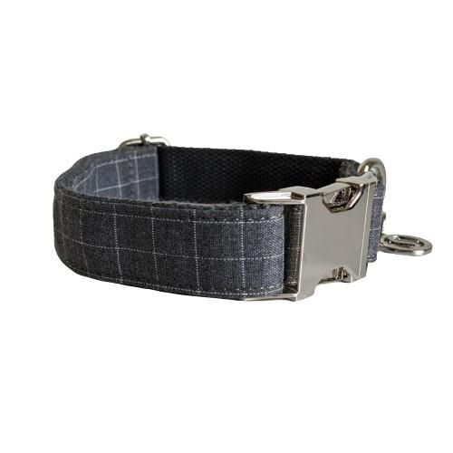 Dog Collar Grey | Dapper XS / Silver - SnuggleDogz