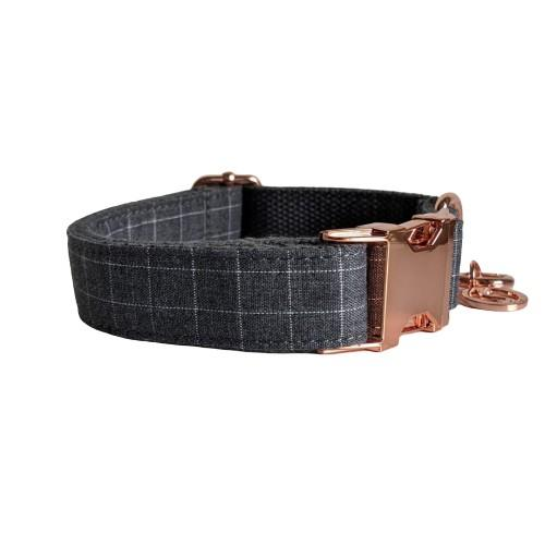 Dog Collar Grey | Dapper XS / Rose Gold - SnuggleDogz