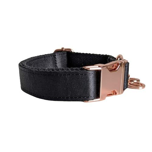 Dog Collar Jet Black | Glamorous - SnuggleDogz