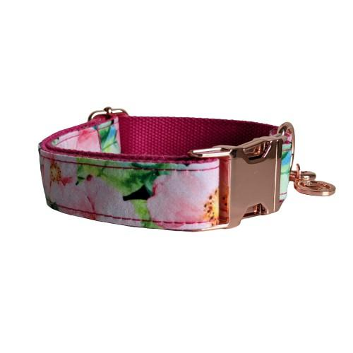 Dog Collar Pink Floral | Refined - SnuggleDogz