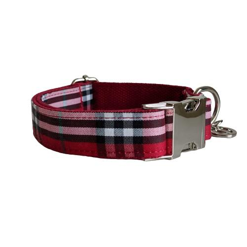 Dog Collar Red Check | Bold - SnuggleDogz