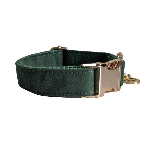 Dog Collar Velvet Green | Timeless - SnuggleDogz