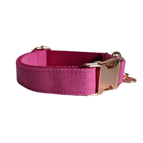 Dog Collar Velvet Pink | Timeless - SnuggleDogz