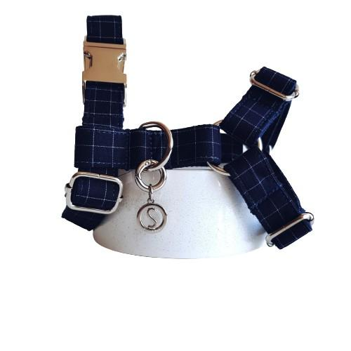 Dog Harness Blue | Dapper S / Silver - SnuggleDogz