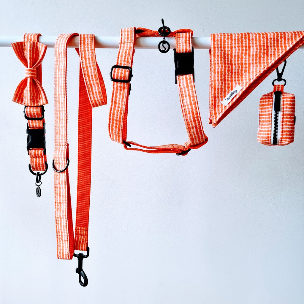 Dog Harness Orange Tie Dye | Chic - SnuggleDogz